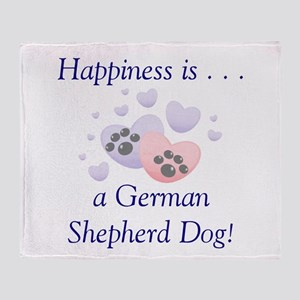 Happiness is...a German Sheph Throw Blanket