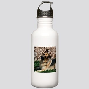 Quizzical German Shepherd Dog Stainless Water Bott