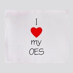 I Love My OES Throw Blanket