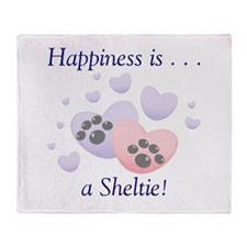 Happiness is...a Sheltie Throw Blanket