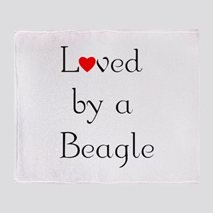 Loved by a Beagle Throw Blanket