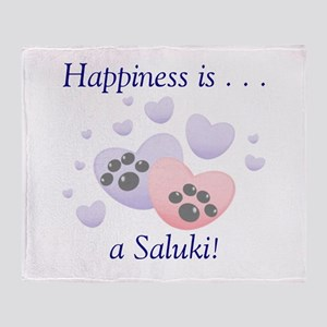 Happiness is...a Saluki Throw Blanket