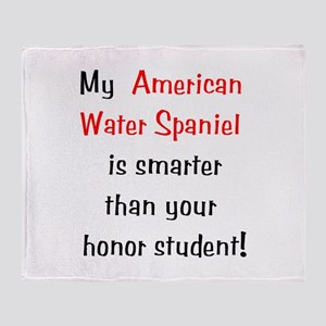 My American Water Spaniel is Throw Blanket