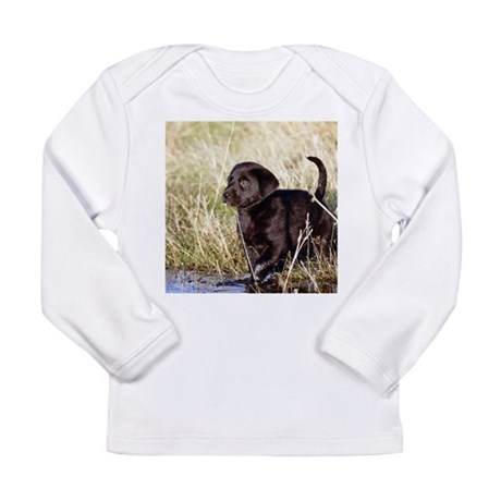 Black Lab Puppy Long Sleeve Infant T-Shirt