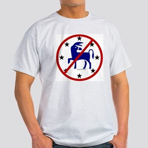 No Democrats (Donkeys) Ash Grey T-Shirt