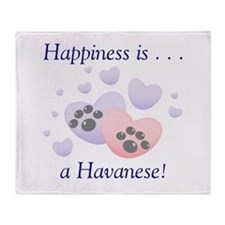 Happiness is...a Havanese Throw Blanket