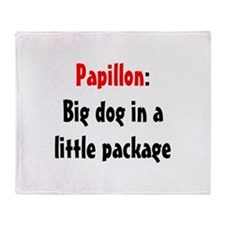 Papillon: Big dog in a little Throw Blanket