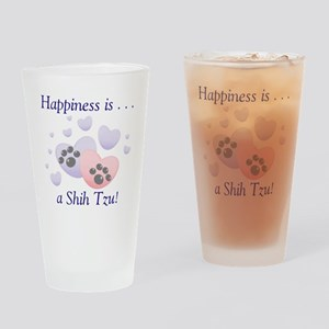 Happiness is...a Shih Tzu Drinking Glass