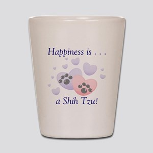 Happiness is...a Shih Tzu Shot Glass