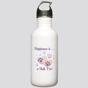 Happiness is...a Shih Tzu Stainless Water Bottle 1