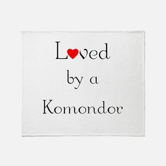 Loved by a Komondor Throw Blanket
