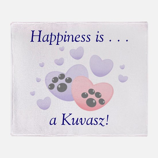 Happiness is...a Kuvasz Throw Blanket