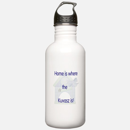 Home is where the Kuvasz is Water Bottle