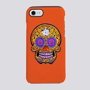 Fleur de Lis Sugar Skull iPhone 7 Tough Case