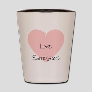 I Love Samoyeds Shot Glass