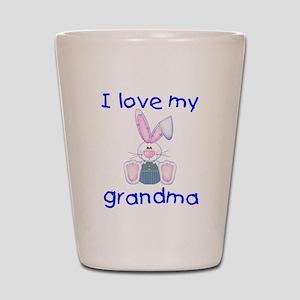 I love my grandma (boy bunny) Shot Glass