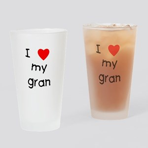 I love my gran Drinking Glass