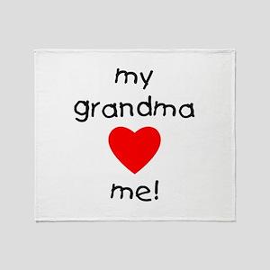 My grandma loves me Throw Blanket