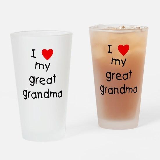 I love my great grandma Drinking Glass