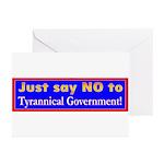 No to Gov Greeting Cards (Pk of 10)