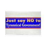 No to Gov Rectangle Magnet (10 pack)