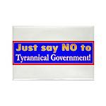 No to Gov Rectangle Magnet (100 pack)