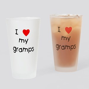 I love my gramps Drinking Glass