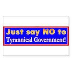 No to Gov Rectangle Sticker