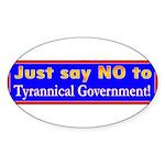 No to Gov Oval Sticker