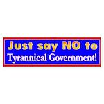 No to Gov Bumper Sticker