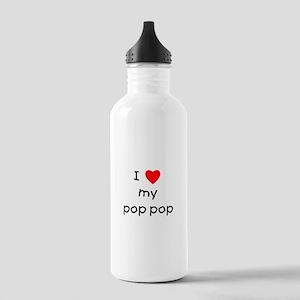 I love my pop pop Stainless Water Bottle 1.0L