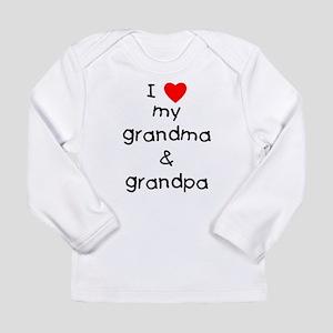 I love my grandma & gr Long Sleeve Infant T-Shirt