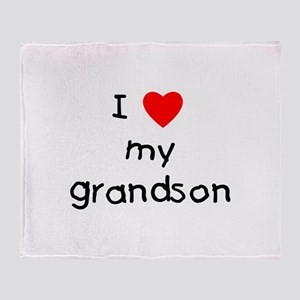 I love my grandson Throw Blanket
