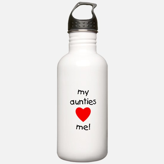 My aunties love me Sports Water Bottle