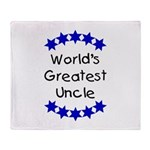 World's Greatest Uncle Throw Blanket