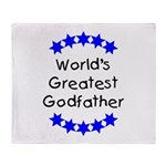 World's Greatest Godfather Throw Blanket