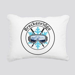 Breckenridge Ski Resort Rectangular Canvas Pillow