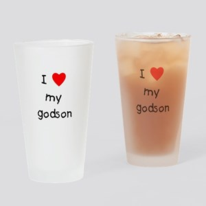 I love my godson Drinking Glass