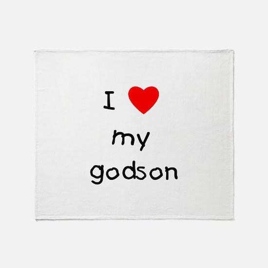 I love my godson Throw Blanket