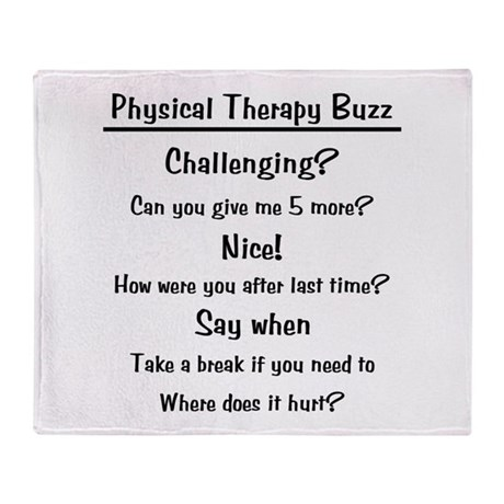 Physical Therapy Buzz Throw Blanket