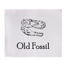 Old Fossil Throw Blanket