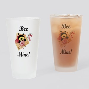 Bee Mine Drinking Glass