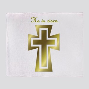 He is risen (cross) Throw Blanket