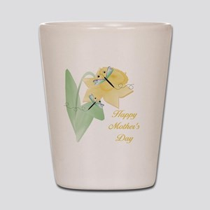 Happy Mother's Day (daffodil) Shot Glass