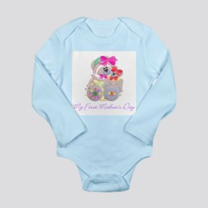 My First Mother's Day (bear) Long Sleeve Infant Bo