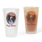 Pappy Holidays (sable santa h Drinking Glass