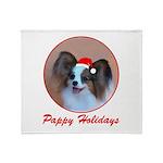 Pappy Holidays (sable santa h Throw Blanket