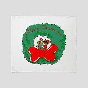 Merry Christmouse Throw Blanket
