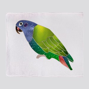 Stained Glass Pionus Parrot Throw Blanket