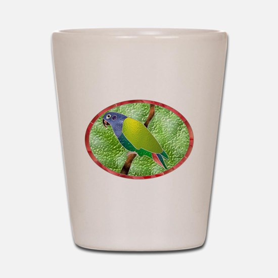 Stained Glass Pionus Parrot Shot Glass